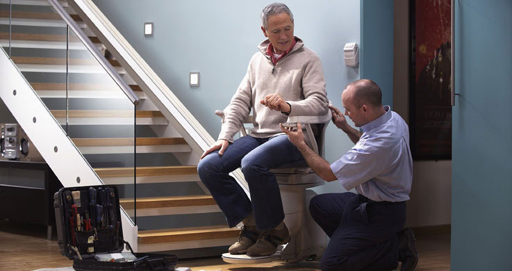 Installation by Pittsburgh's Stair Lift Pros