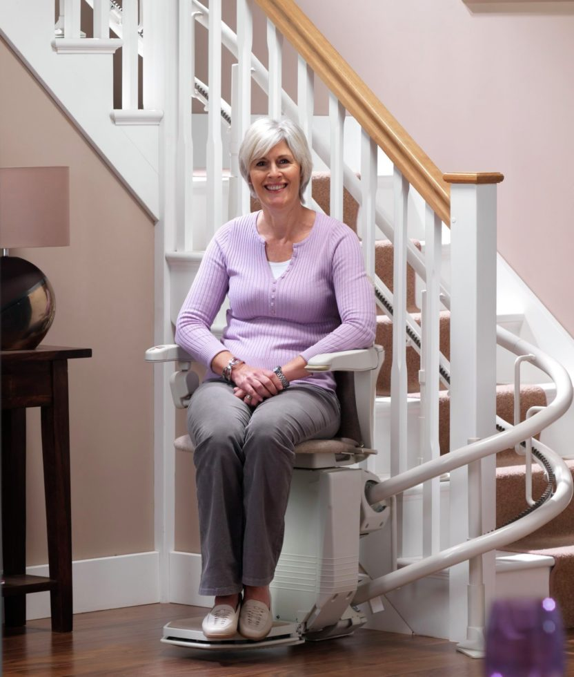 Curved Stair Lifts in Rochester, Buffalo, Erie, Pittsburgh, Morgantown