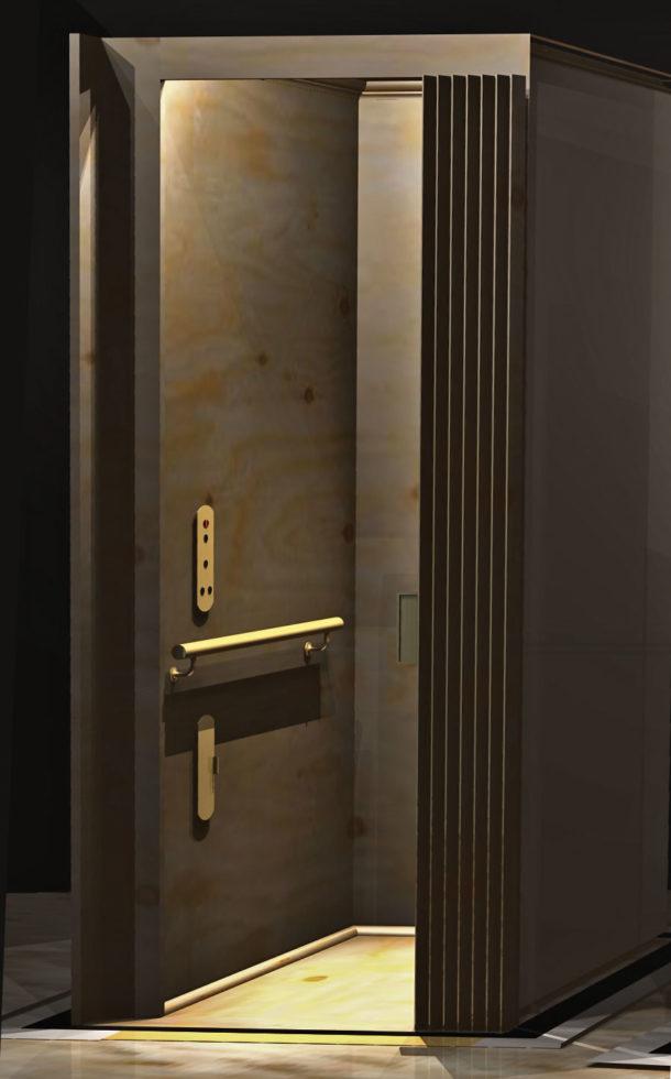 Symmetry Elevator - Flat Home Elevator Panel