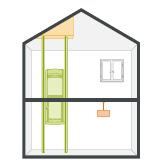 Stiltz Elevator - Sloping/Vaulted Ceiling