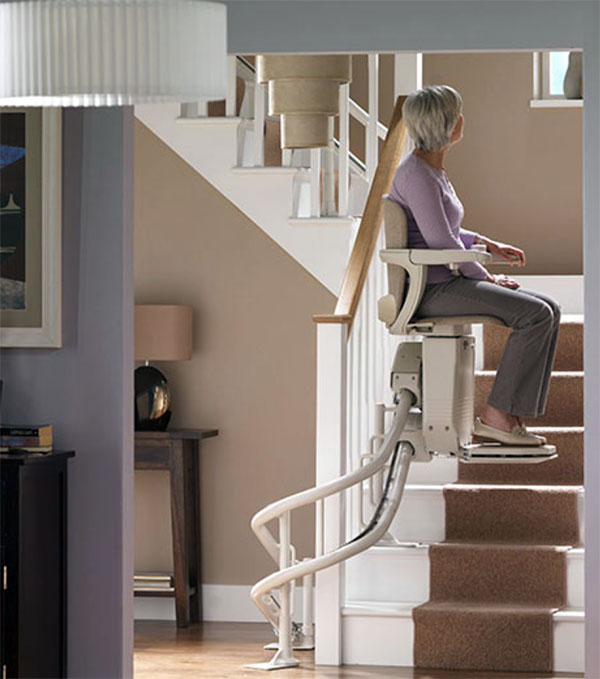 Curved Stair Lifts in Rochester, Morgantown, Erie, Pittsburgh, Buffalo