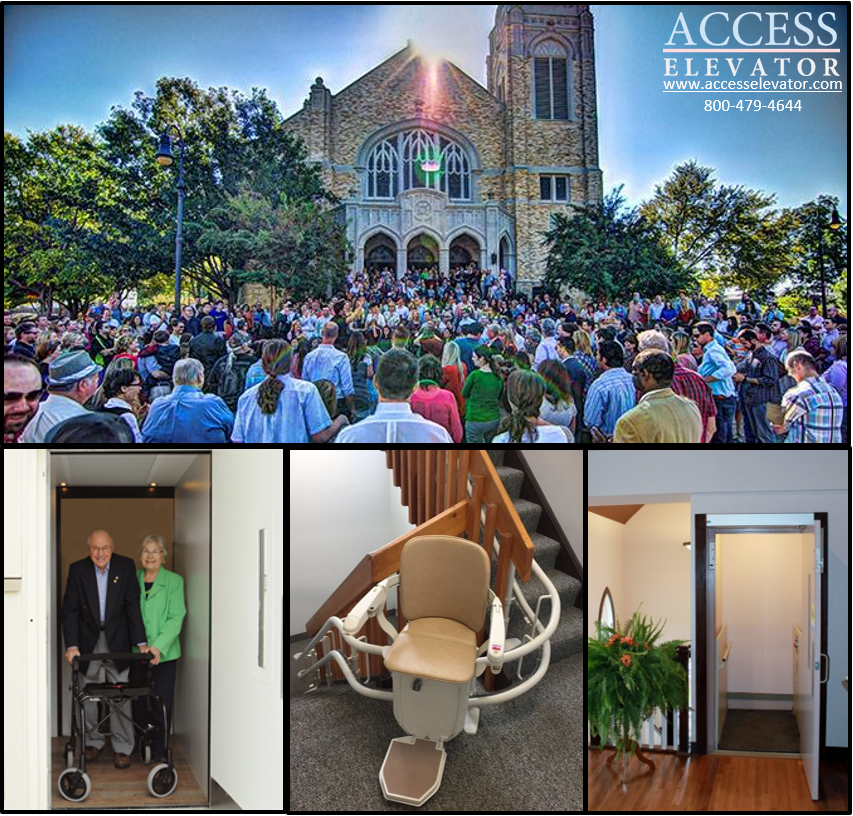 Church Accessibility, Stairlift, Wheelchair Lift, Small Commercial Elevator